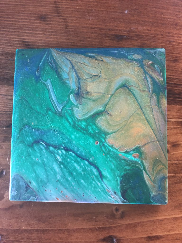Paint Pouring - try new hobbies